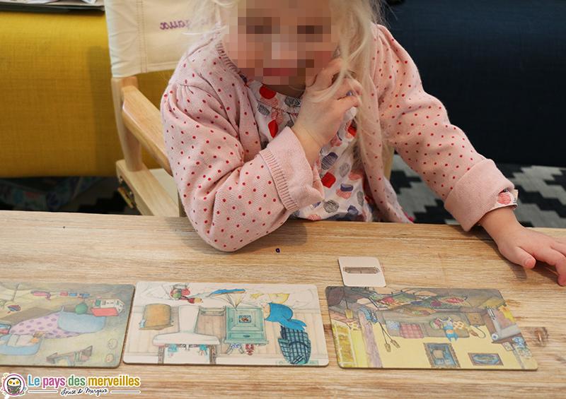 classer les cartes objets dans la bonne pièce de la maison