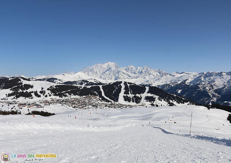 vue sur le massif du Mont Blanc depuis les Saisies