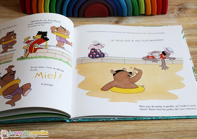 l'ours du livre la piscine magique