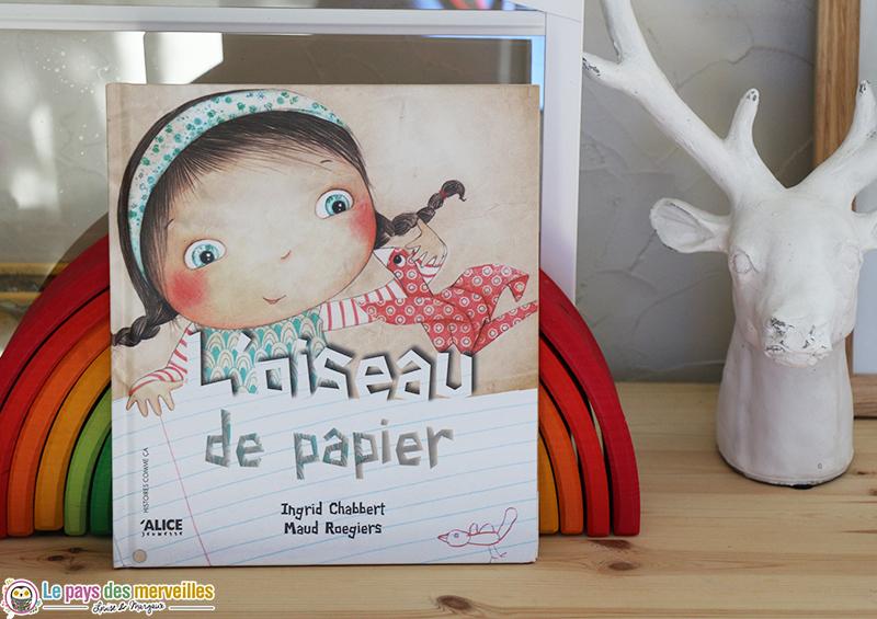 Livre jeunesse l'oiseau de papier