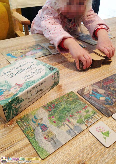 jeu de loto Montessori avec de belles illustrations