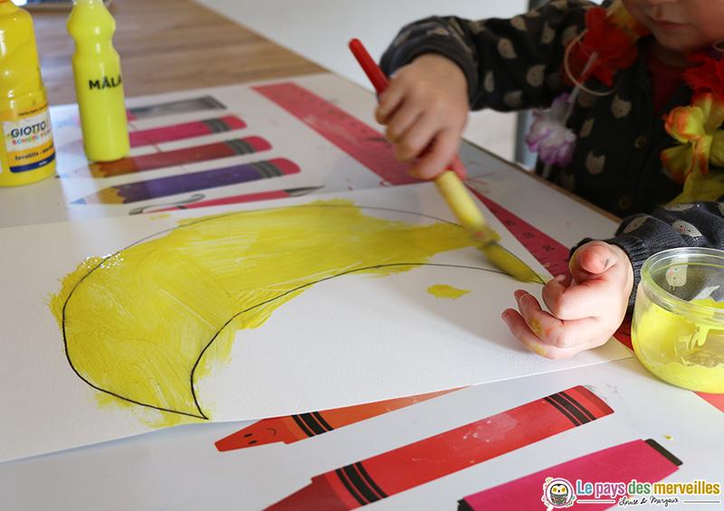 peindre la lune en jaune