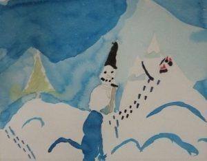 peinture neige encre