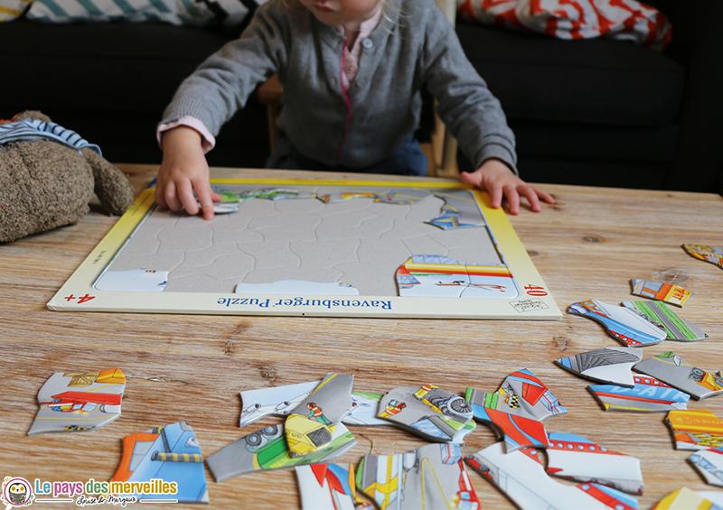 Puzzle plateau de 40 pièces sur le thème des avions