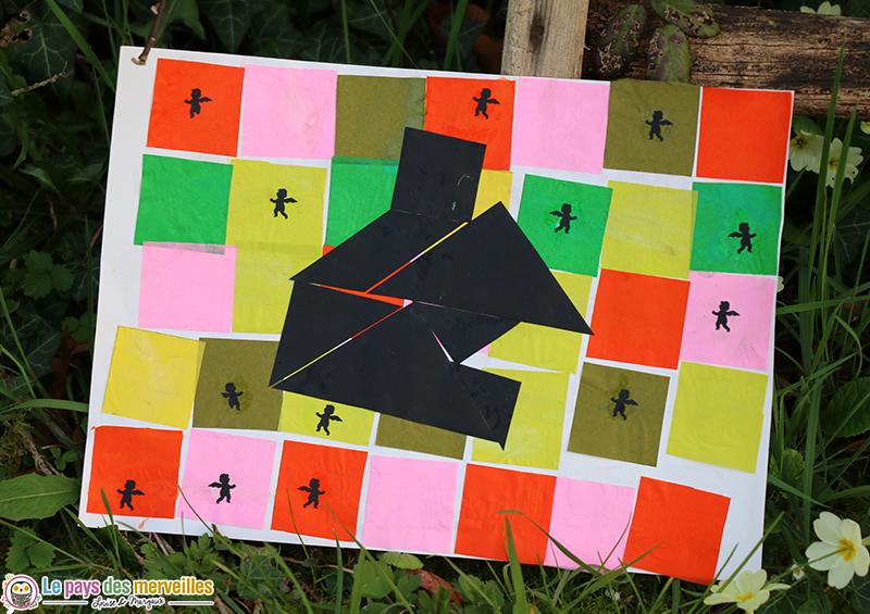 art visuel pour maternelle tangram maison