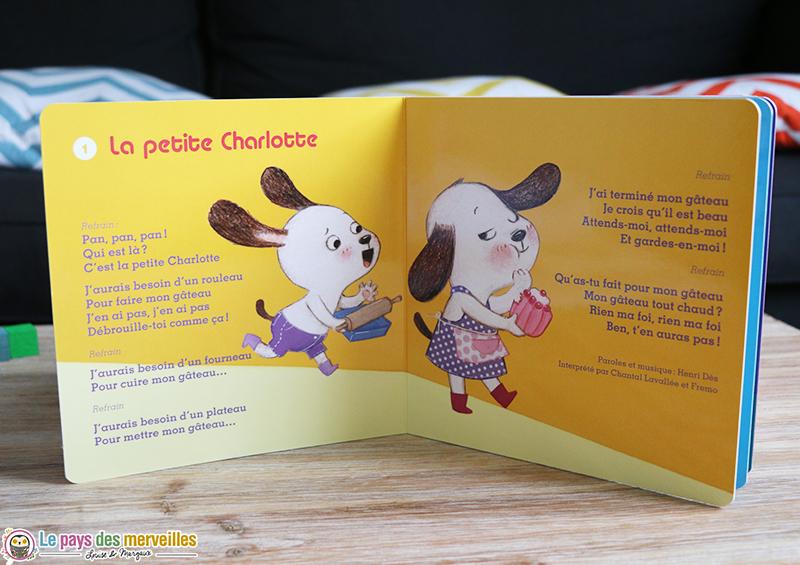 comptine La petite Charlotte illustrée par Cécile Hudrisier