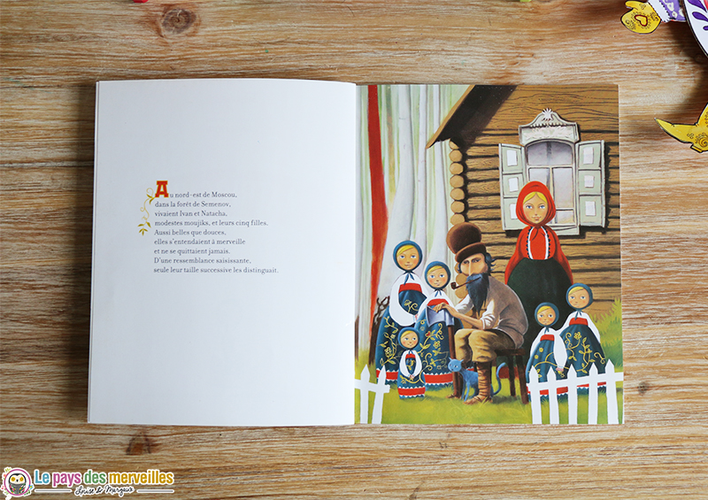 Illustration de la famille du livre dans Matriochka