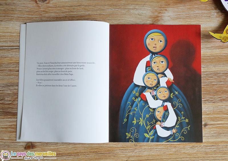 dessin des cinq soeurs du livre Matriochka