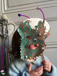 masque monstre en peinture à la fourchette