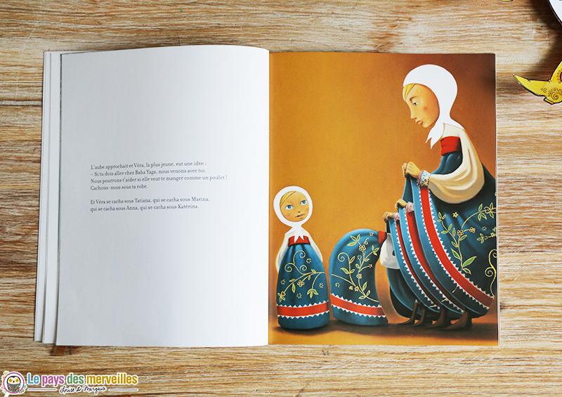 Illustration conte russe Matriochka