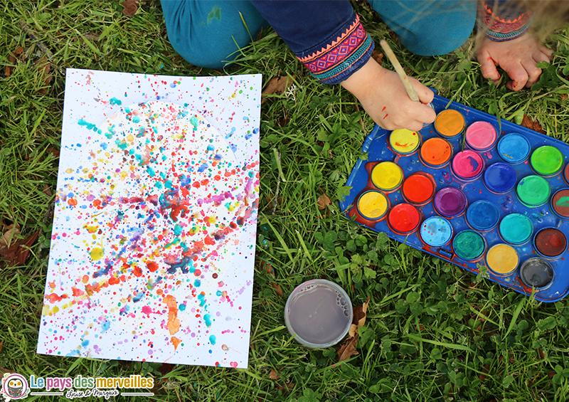 activité manuelle maternelle projection peinture