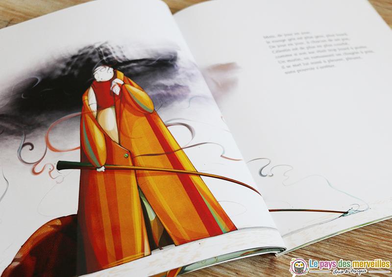 illustration célestin ramasse un mouchoir plein de tristesse