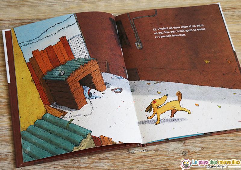 illustration chien fou