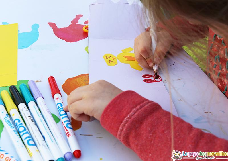 dessin enfant thème pâques