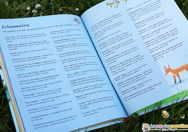 glossaire du livre activités de plein air