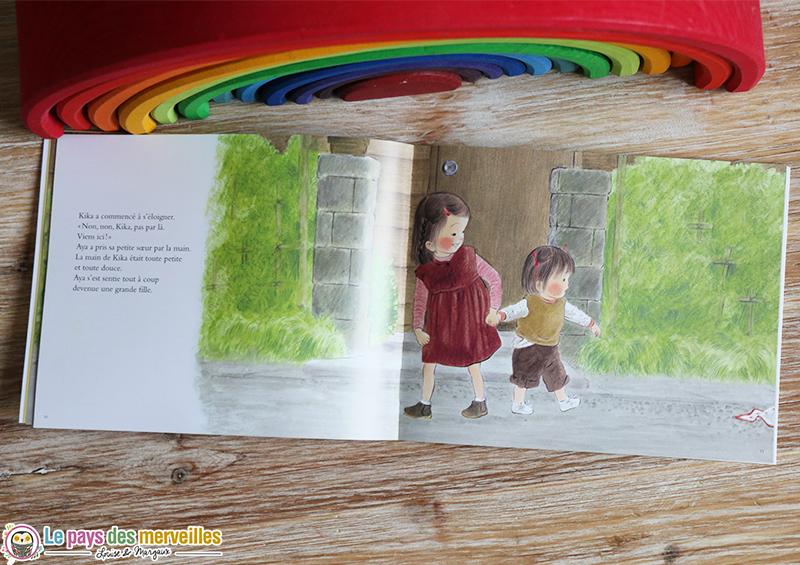 Illustration aya et sa petite soeur