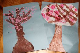 peinture arbre du printemps