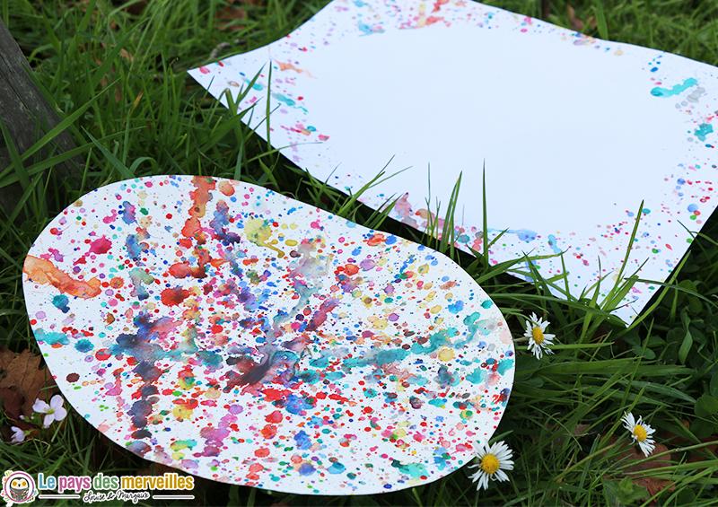 Peinture oeuf de pâques et sa silhouette