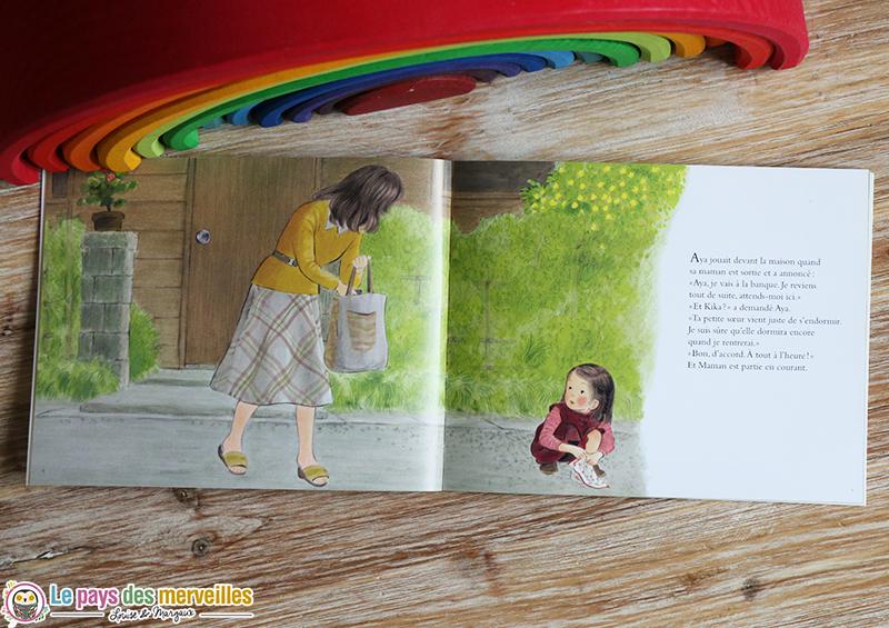 illustrations Aya et sa maman