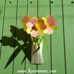 bouquet de fleurs printanier en papier