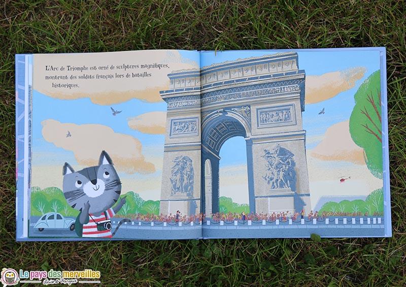 illustration du Minou qui découvre l'Arc de Triomphe