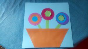 collage de papier pour faire un bouquet de fleurs