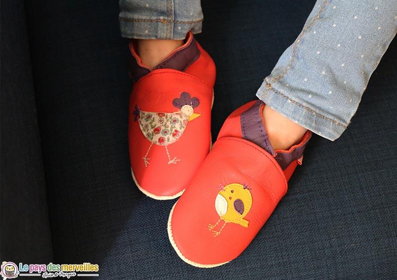 """chaussons tichoups modèle """"Juliette la poulette"""""""