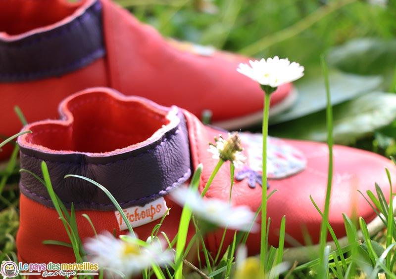 chaussons en cuir souple de la marque Tichoups