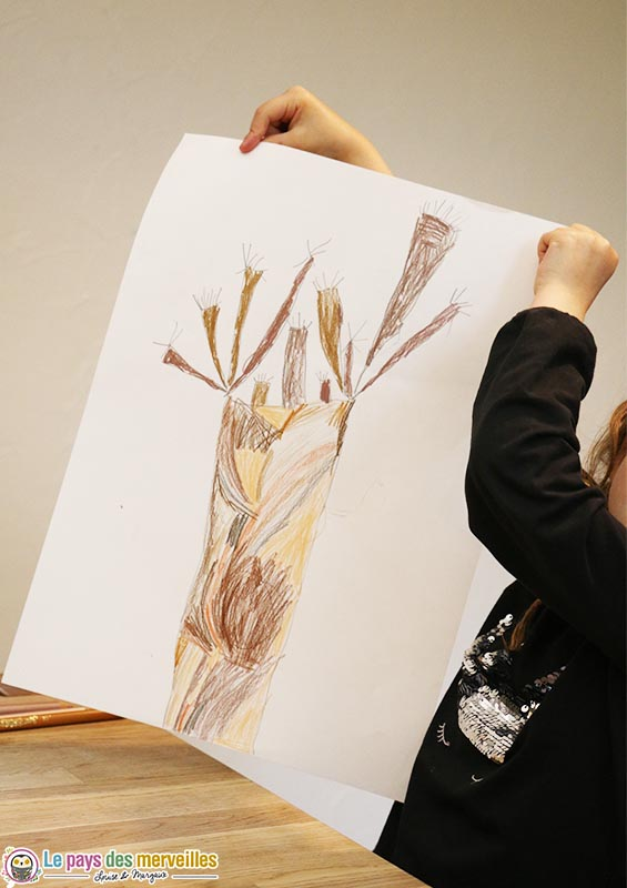 coloriage et dessin d'un arbre grande section