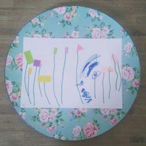 dessin enfant fleurs gommettes