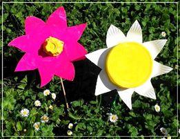 fleurs de printemps en carton