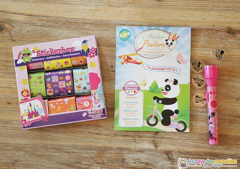 goodies et gourmandises de la box de Pandore
