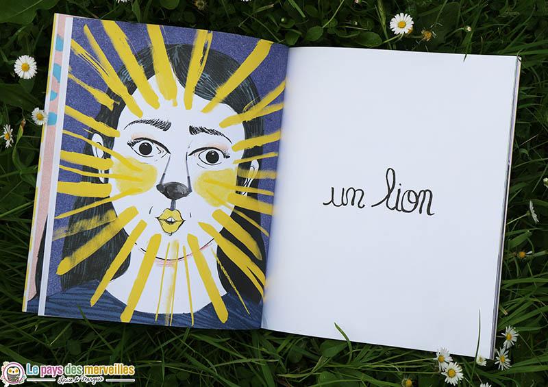 Dessin d'une maman transformée en lion