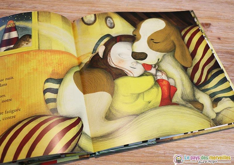 illustration de la complicité entre un chien et un enfant