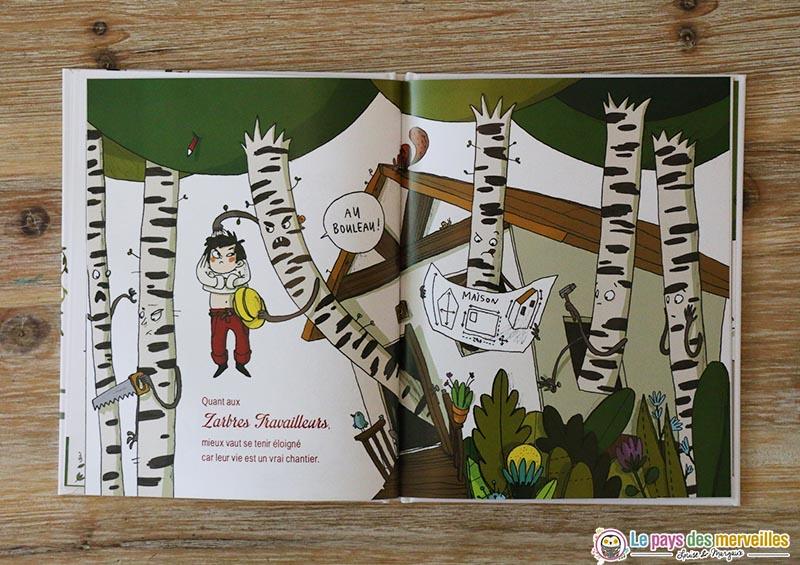illustration d'arbres bouleaux qui travaillent