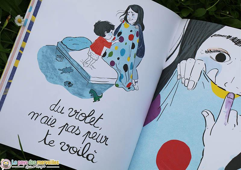 """Illustration colorée du livre """"maman"""""""