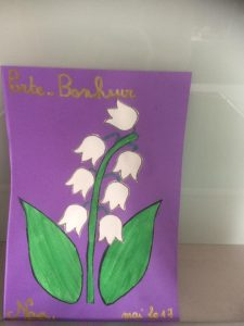 dessin et collage muguet