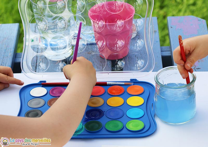 palette de peinture à l'eau 24 couleurs