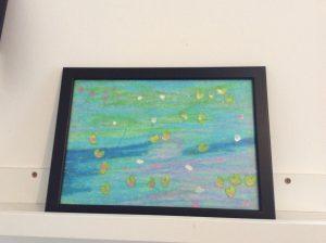 Peinture de nymphéas à la manière de claude Monet