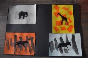 tableau du pelage des animaux du safari