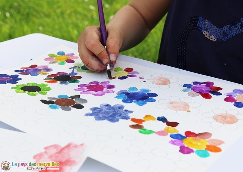 peinture colorée du printemps