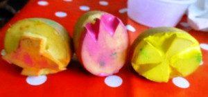 pomme de terre sculptée pour peindre