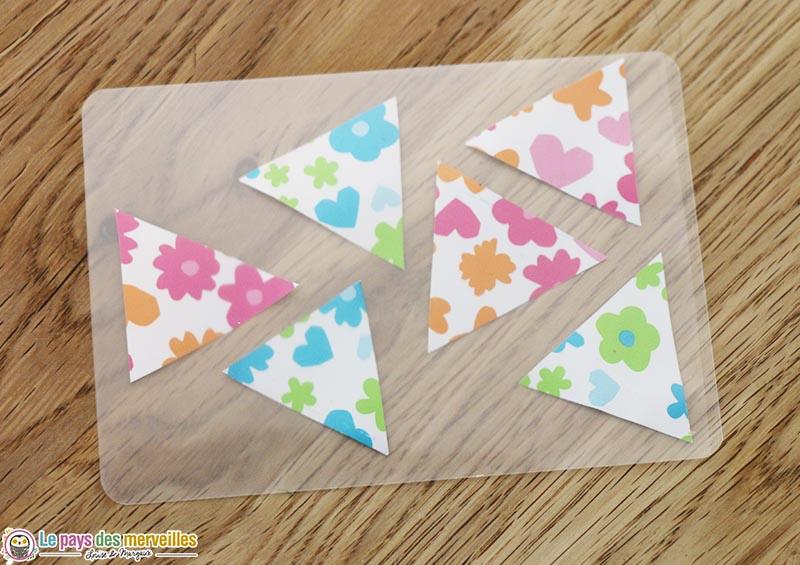 triangle à plastifier
