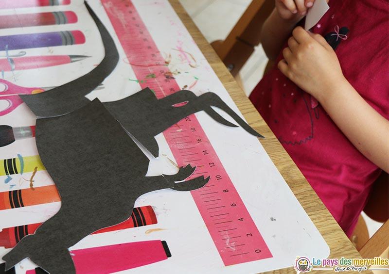 reconstituer un puzzle kangourou en papier