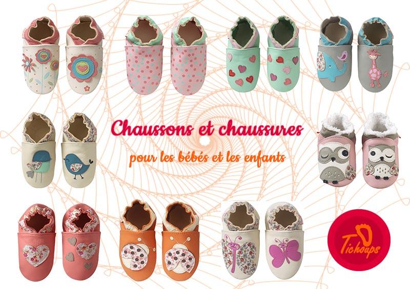 sélection de chaussons cuir pour les bébés et les enfants
