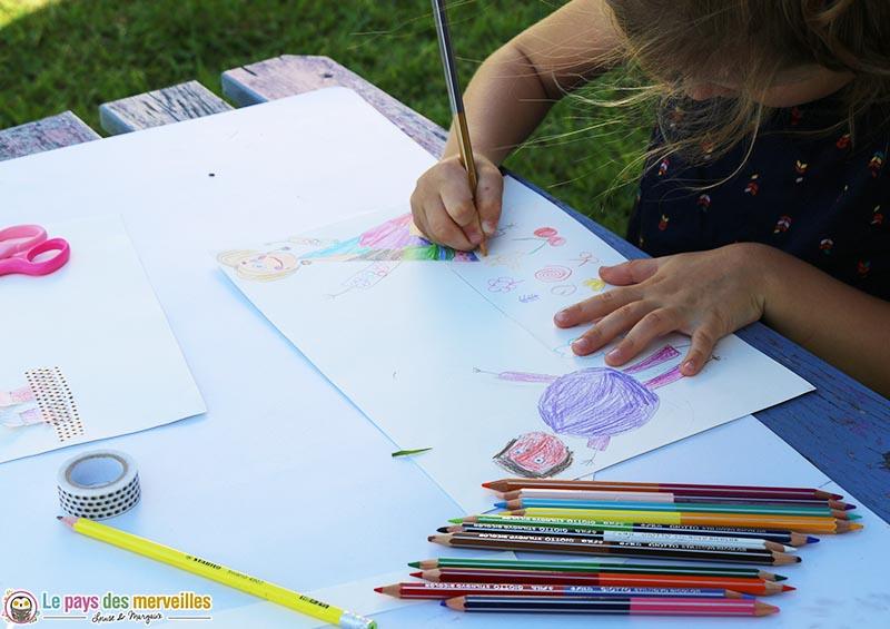 idée de dessin pour la fête des pères