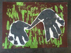 elephant empreinte de main