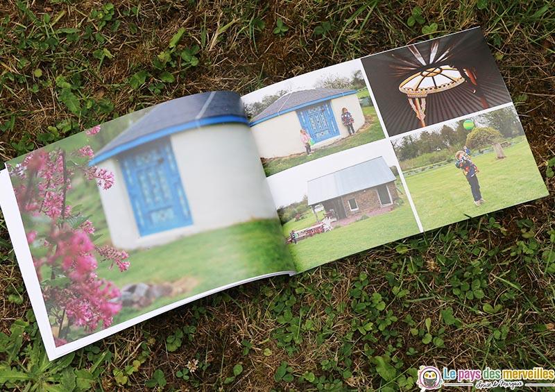 Vue intérieur d'un album photo en format paysage
