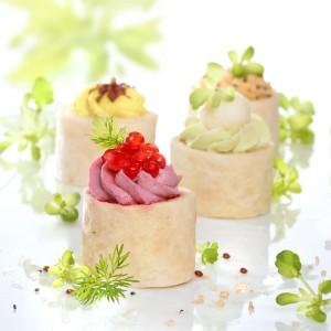 mini wraps salés