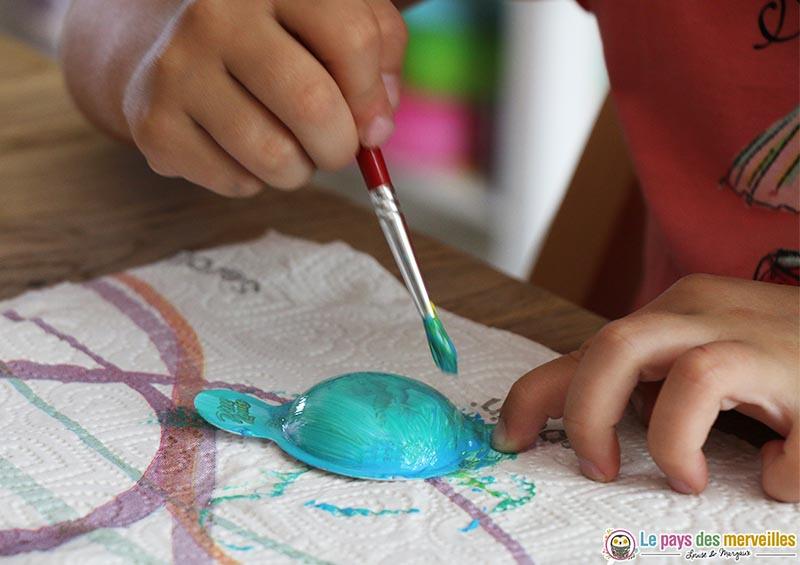 Peindre les coques des fromages Ptit Louis